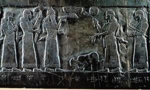 Obelisco negro de Salmanasar III: Jeú tributário do rei assírio