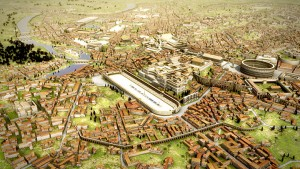 A cidade de Roma - Rome Reborn - Image © 2012 Bernard Frischer