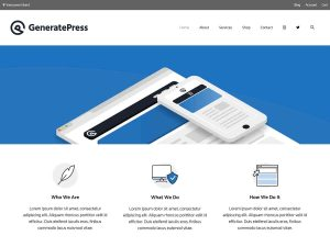 Tema GeneratePress para WordPress