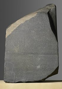 The Rosetta Stone - British Museum EA24 - From Fort St Julien, el-Rashid (Rosetta), Egypt - Ptolemaic Period, 196 BC