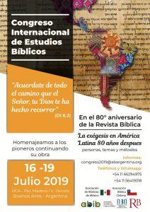 Congresso Internacional de Estudos Bíblicos em Buenos Aires em 2019