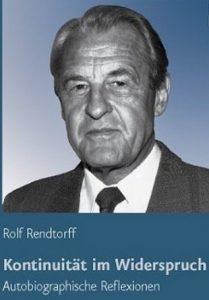RENDTORFF, R. Kontinuität im Widerspruch: Autobiographische Reflexionen. Göttingen: Vandenhoeck & Ruprecht, 2007