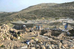 Escavações em Tel Shiloh, Cisjordânia. Foto: Amnon Gutman