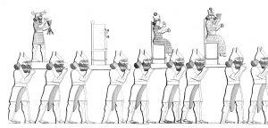 Estátuas de deuses sendo transportadas - Austen Henry Layard, The Monuments of Nineveh