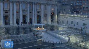 Momento extraordinário de oração em tempo de epidemia presidido pelo Papa Francisco - Adro da Basílica de São Pedro - 27 de março de 2020