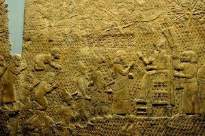 Prisioneiros judaítas de Laquis levados ao rei Senaquerib em 701 a. C.