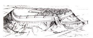 A fortaleza de Laquis em 701 a. C.