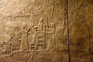 O rei assírio Senaquerib em Laquis em 701 a. C.