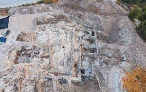 Imagem aérea da escavação de Arnona, Jerusalém - Yaniv Berman, Israel Antiquities Authority