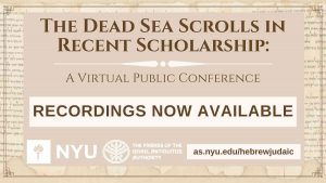 The Dead Sea Scrolls in Recent Scholarship