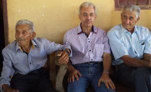 Com Papai e Dindinho (tio Clóvis)