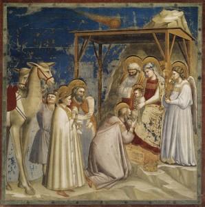 Giotto, Adorazione dei Magi - Cappella degli Scrovegni, Padova, Italia (ca. 1303-1305)