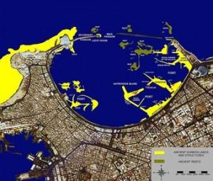 O porto de Alexandria na época dos Ptolomeus