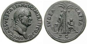Moedas de Vespasiano: IVDEA CAPTA - Judeia conquistada