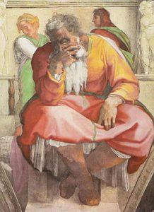 Jeremias de Michelangelo - Capela Sistina, Vaticano (1511)