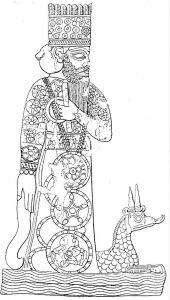 Marduk com seu dragão Mušḫuššu